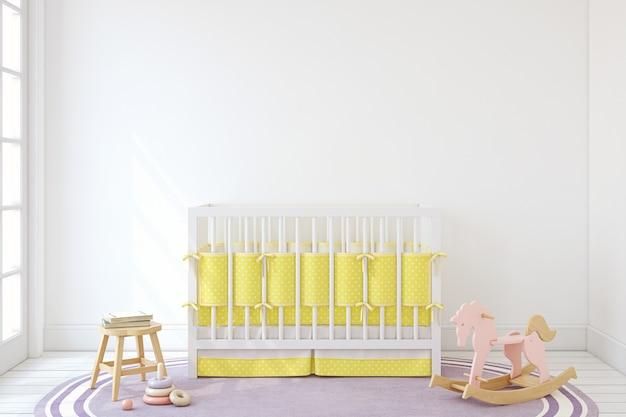 Interior of nursery. mockup. 3d render.