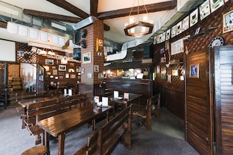 Interior of cozy pub