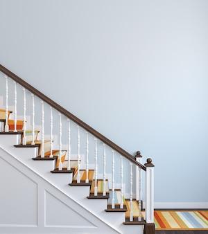 나무 계단과 복도의 내부