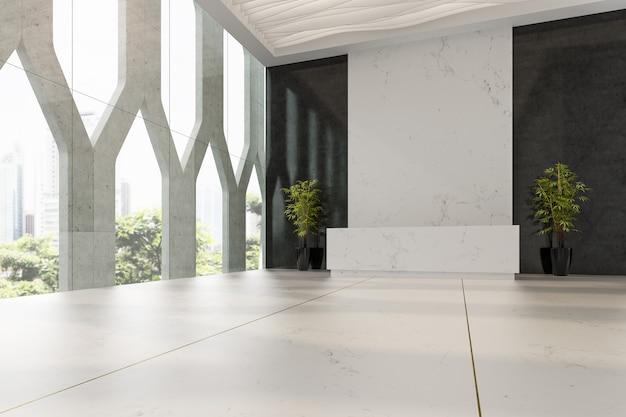 Интерьер отеля и спа-приемной 3 d иллюстрации