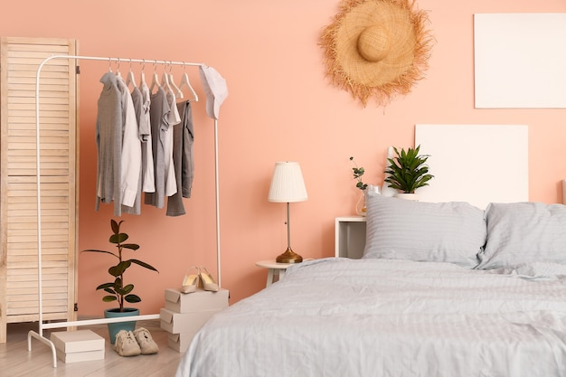 モダンで快適なベッドルームのインテリア