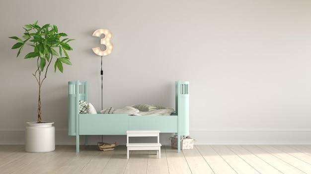 Интерьер современной гостиной со стулом 3 d рендеринга