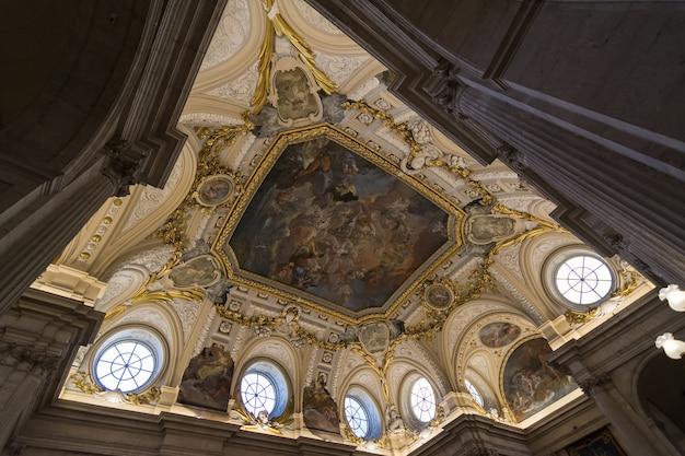 마드리드, 스페인의 왕궁 내부.