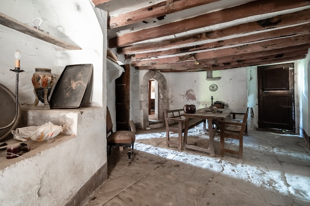 Interior of an old farmhouse