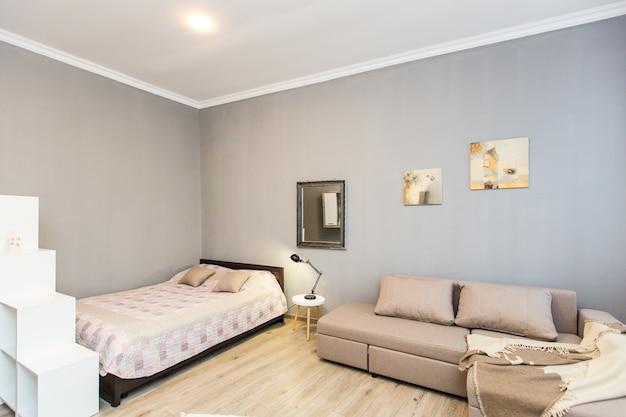 인테리어 사진, 현대적인 침실, tv