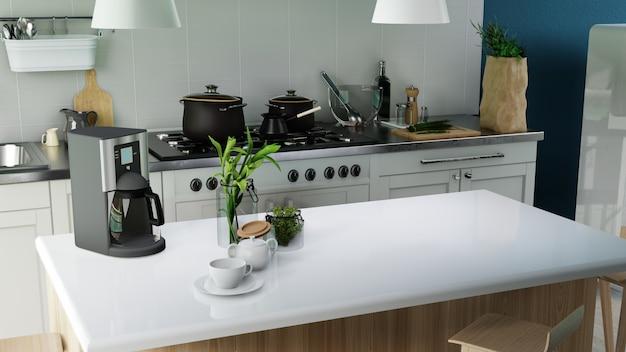 Interior poster modern kitchen