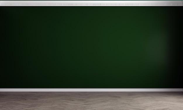 인테리어 룸과 녹색 벽, 나무 바닥, 3d 렌더링