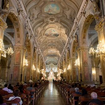Interior of the santiago de compostela cathedral, santiago, santiago metropolitan region, chile