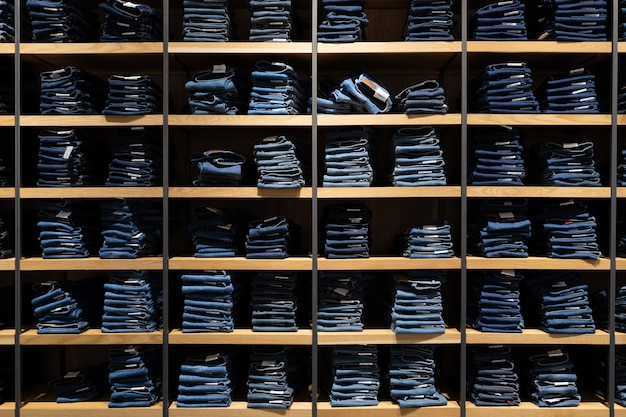 Interior shot of fashion clothes shop