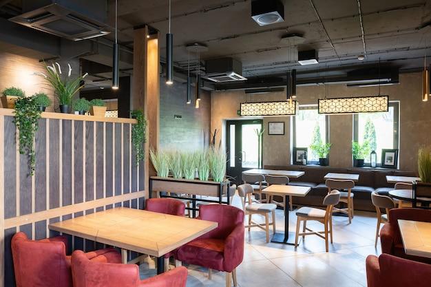 Interior shot of stylish restaurant
