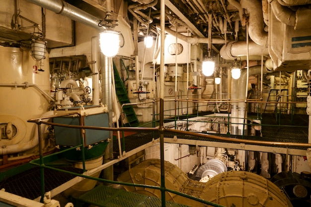 Interior of the soviet atomic icebreaker lenin.
