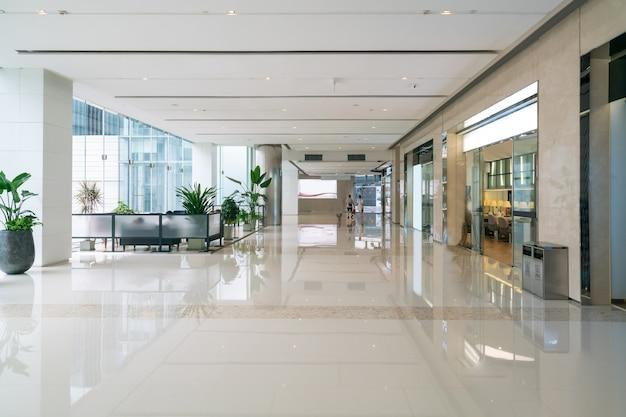 Interior space of department store