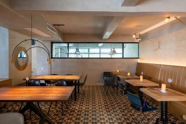 Interior space of italian style restaurant