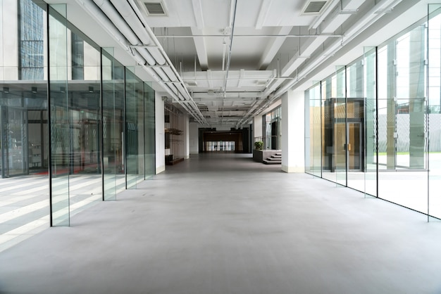 Interior space of office building