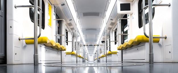 Interior to a train