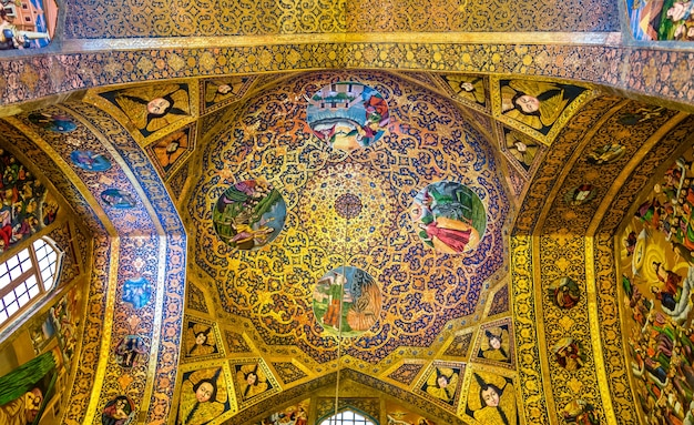 Interior of vank cathedral in isfahan, iran