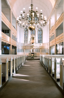 Interior view of bach church in arnstadt, germany.