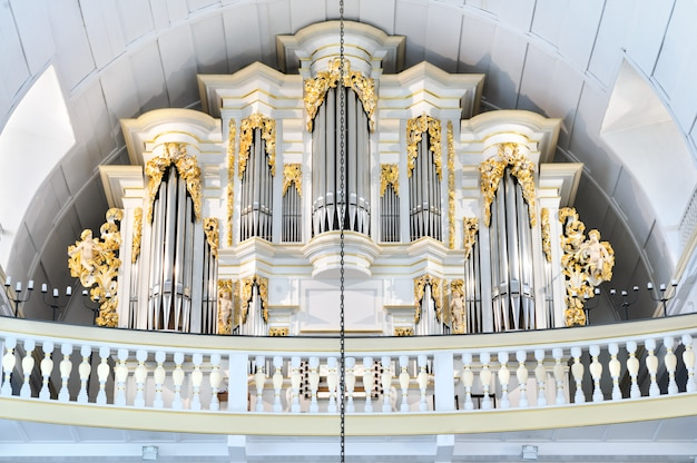 Interior view of bach church in arnstadt, thuringia, germany