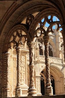 Interior view of the landmark mosteiro dos jerã³nimos in lisbon, portugal.