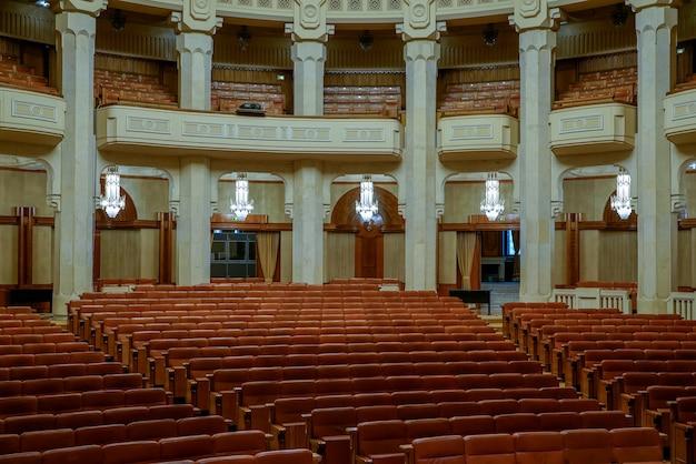루마니아 부쿠레슈티에 있는 인민 궁전의 내부 모습