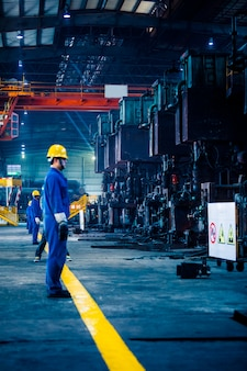 Interior view of a steel factory