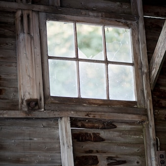 Interior view of a window in a building at lake of the woods, ontario