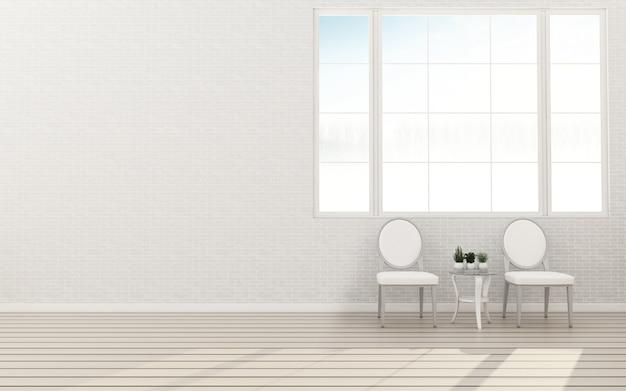 Интерьер со стульями премиум фото