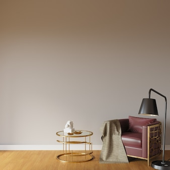 Interior with armchair