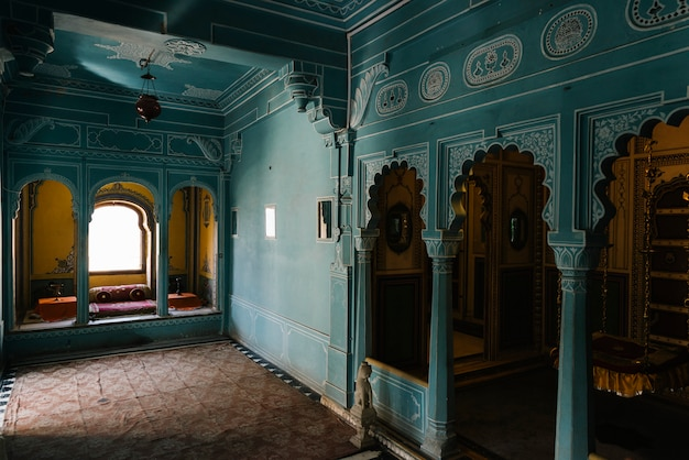 Interior of zenana mahal at city palace in udaipur rajasthan