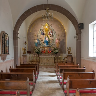 Interiors of a church, san miguel de allende, guanajuato, mexico