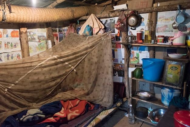 Интерьеры традиционной домашней комнаты, пунакха, бутана