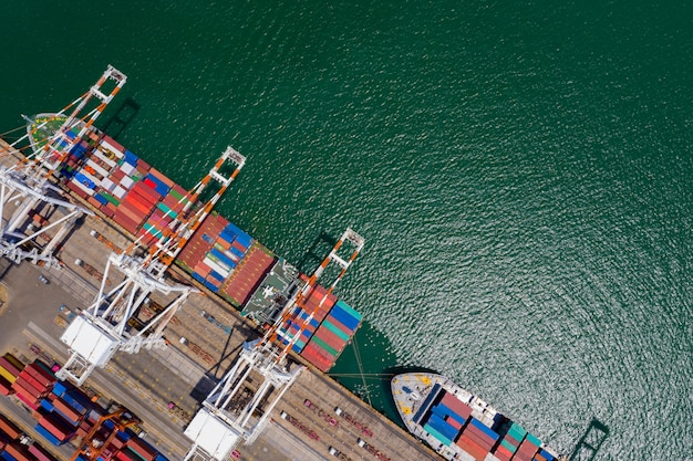 International container shipping business service import and export by the sea