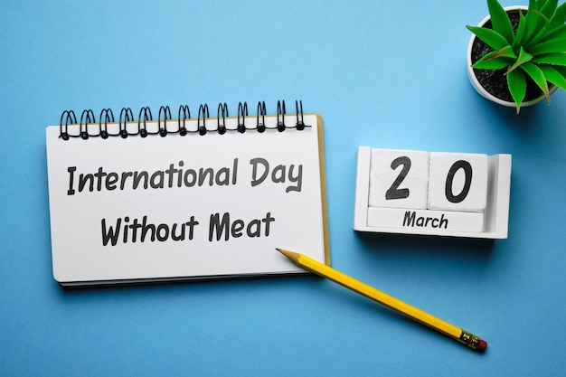 International day without meat of spring month calendar march.