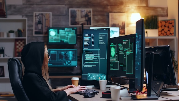 International female hacker wanted for cyber crimes against the government.