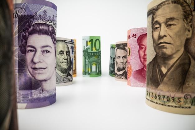 国際両替。外国通貨。