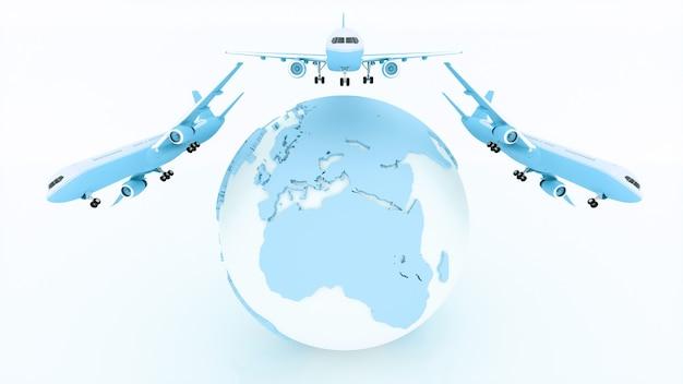 商品の国際配送と配送、3dイラスト