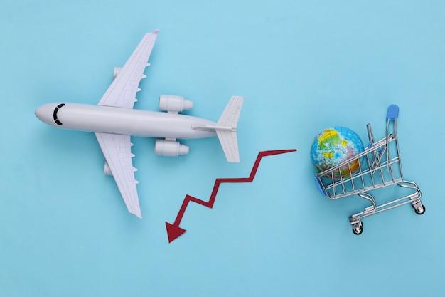 Международный доставка. падение мировых покупок