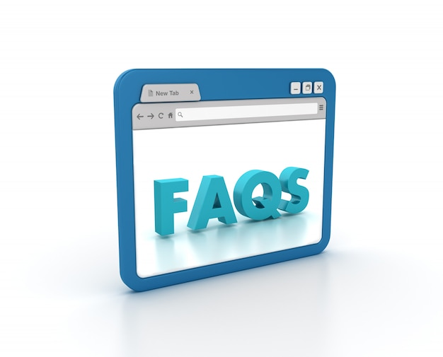 Internet browser with faqs word