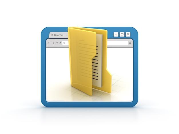 Internet browser with folder