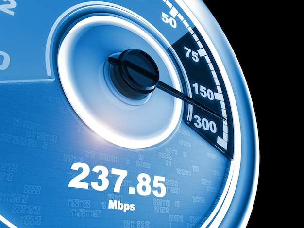 Internet connection speedometer