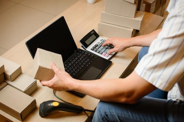 Internet online shopping,  young business start up online seller .