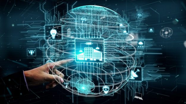 Internet of things and communication technology conceptual