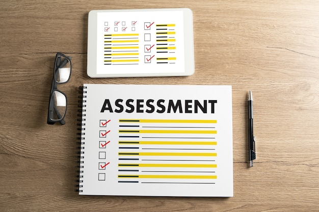 Interview assessment and glasses