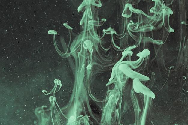 反転色の水中クラゲ抽象油で抽象化します。