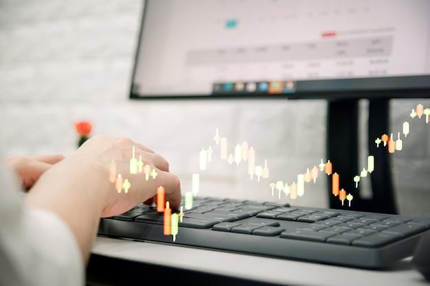 투자 사업 및 기술 개념 그래프