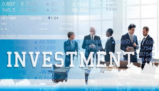 Economia degli investimenti finanza affari commerciali concept