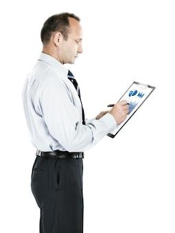 投資家は会社の収益の財務スケジュールを調査します。