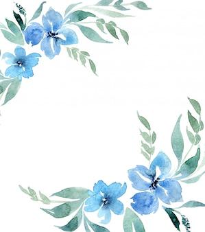 水彩飾りの招待カード