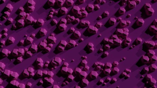 ピンクの表面の背景に抽象的な幾何学iosphere