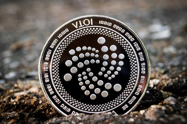 Golden bitcoin coins on a paper dollars money virtual